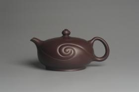 紫砂壶图片:美壶双11特惠 精工油润老紫泥如意半珠 茶人醉爱 - 美壶网