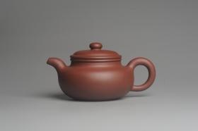 紫砂壶图片:油润底曹青 全手工寿珍仿古 深得老味 做工特好 - 美壶网