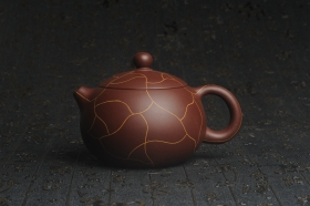紫砂壶图片:美壶特惠 精工冰纹西施 茶人醉爱 - 美壶网