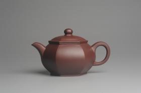 紫砂壶图片:全手工六方宫灯 大气饱满 做工精致 - 美壶网