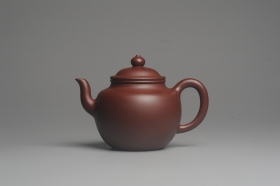 紫砂壶图片:油润黄龙山4号深井红皮龙 全手工高灯壶 东西灰常赞 - 美壶网