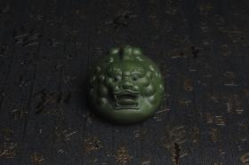 紫砂壶图片:美宠特惠 精工绿泥泥招财兽茶宠摆件 长10cm宽7cm高5cm - 美壶网