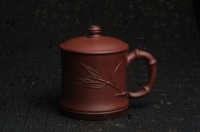 紫砂壶图片:美杯特惠 年底特惠 年货 做工精致竹节竹叶盖杯 - 美壶网