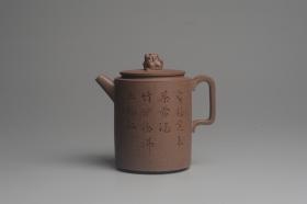 紫砂壶图片:美壶特惠 优质老段文人集狮壶 禾人老师即兴装饰 - 美壶网