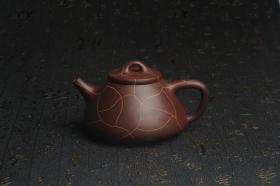 紫砂壶图片:美壶特惠 优质紫泥精工冰纹石瓢壶 特实用 出水如柱 养后油润 - 美壶网