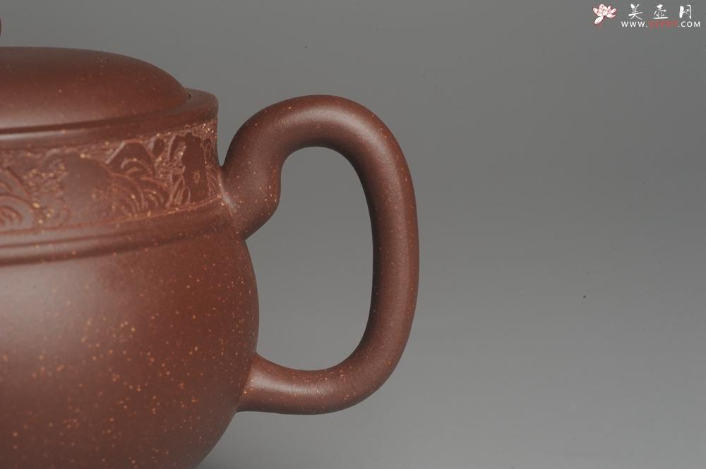 紫砂壶图片:美壶特惠 大口实用精工瑞狮壶 茶人醉爱 - 宜兴紫砂壶网