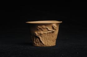 紫砂壶图片:美杯特惠 精致全手工松桩杯 - 美壶网