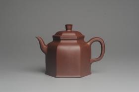 紫砂壶图片:美壶特惠 精致全手工六方金钟 泥料超好 - 美壶网