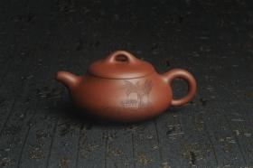 紫砂壶图片:美壶特惠 精致汉棠石瓢壶 装饰清供图 茶人醉爱 - 美壶网