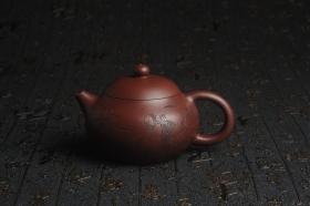 紫砂壶图片:油润底曹青 全手工高文旦 装饰人物 特文气 - 美壶网
