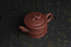 紫砂壶图片:美壶特惠 精致紫泥可心竹段壶 茶人醉爱 - 美壶网