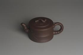 紫砂壶图片:美壶特惠 精致老紫泥可心竹段壶 茶人醉爱 - 美壶网