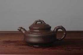 紫砂壶图片:美壶特惠 优质老紫泥双线竹鼓二式 养后特润 - 美壶网