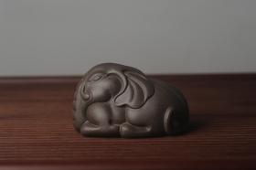 紫砂壶图片:迎中秋特惠 精工好料大象紫砂茶宠 太平有象 - 美壶网