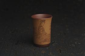 紫砂壶图片:美杯国庆特惠 精品好泥好工好刻雅致西施浣纱主人杯 茶人醉爱 - 美壶网