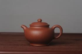 紫砂壶图片:美壶特惠 精致红降坡泥大亨掇只壶 茶人醉爱 - 美壶网