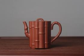 紫砂壶图片:美壶特惠 精致优质朱泥十三竹壶 茶人醉爱 - 美壶网