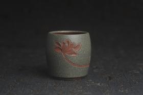 紫砂壶图片:美杯国庆特惠 精品好泥好工雅致厚实清莲主人杯二式 - 美壶网