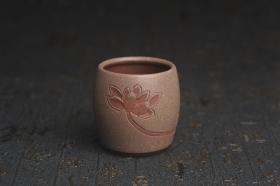紫砂壶图片:美杯国庆特惠 精品好泥好工雅致厚实清莲主人杯 - 美壶网