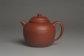 紫砂壶图片:美壶特惠 精致老清水泥腰线巨轮壶 茶人醉爱 - 美壶网