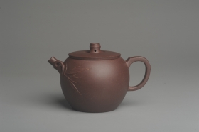 紫砂壶图片:美壶特惠 精致紫泥竹巨轮壶 茶人醉爱 - 美壶网