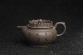 紫砂壶图片:美壶特惠 优质青灰段泥精致僧帽壶 茶人醉爱 - 美壶网