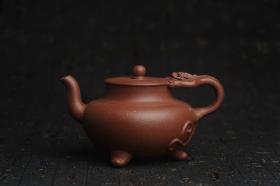 紫砂壶图片:美壶年底特惠 精致红降坡泥螭龙壶 - 美壶网