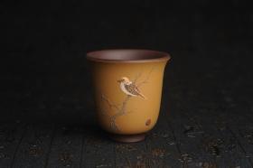 紫砂壶图片:美杯特惠 精致枯枝鸟文气主人杯 茶杯 茶人醉爱 - 美壶网