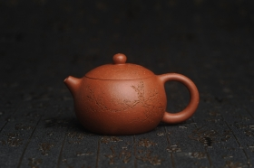 紫砂壶图片:油润降坡泥全手工小品西施壶 装饰喜上眉梢 特文气 - 美壶网