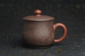 紫砂壶图片:年底纯福利特惠 优质紫泥 山水厚实盖杯 特文气 - 美壶网